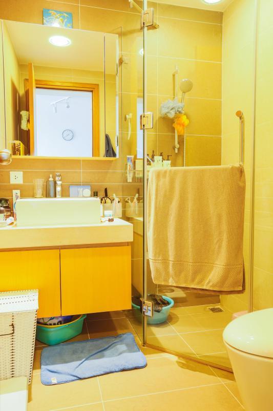 Phòng tắm Căn hộ tầng cao Sunrise City độc đáo với những họa tiết 3D