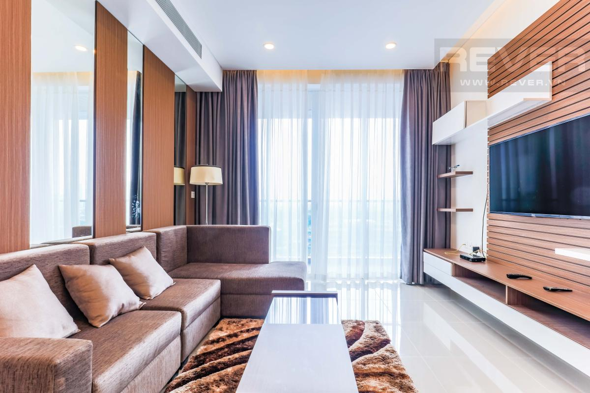 Phòng khách sang trọng Căn hộ Sarimi Sala Đại Quang Minh hướng Tây và tầng cao tháp B1