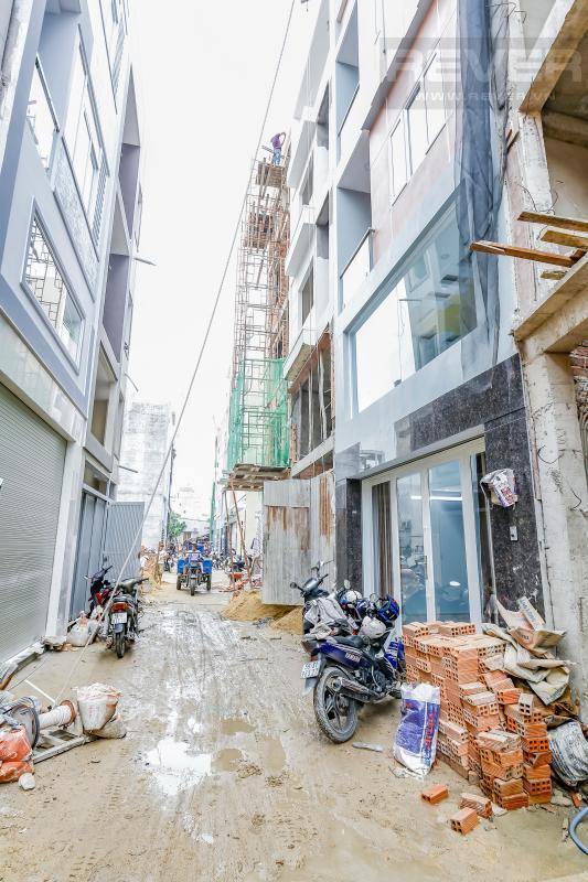 Khu vực hẻm trước căn nhà Nhà 4 tầng hẻm Chu Văn An Bình Thạnh