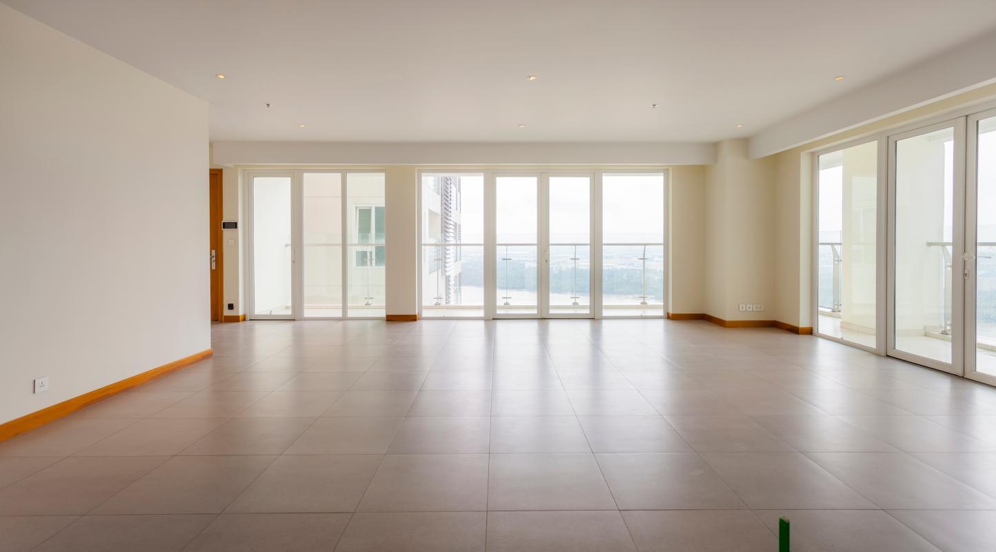 Phòng khách Căn góc tầng cao Tower 3 Brilliant Đảo Kim Cương