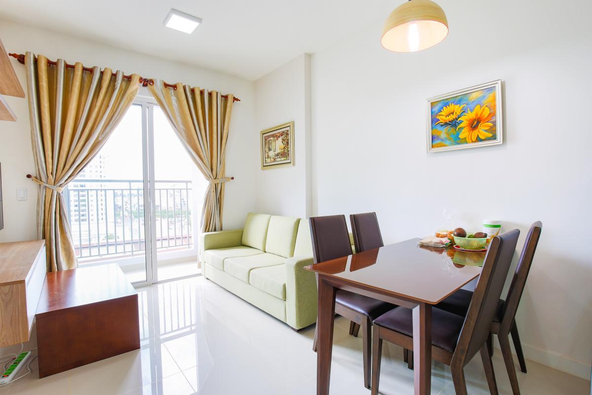 Nội thất Phòng khách Căn hộ Galaxy 9 tầng thấp G1 2 phòng ngủ, đủ nội thất