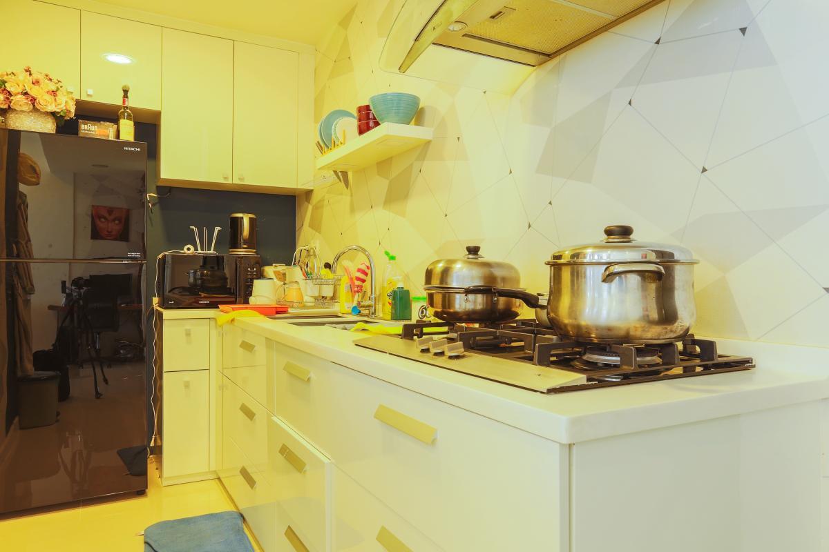 Phòng bếp Căn hộ tầng cao Sunrise City độc đáo với những họa tiết 3D