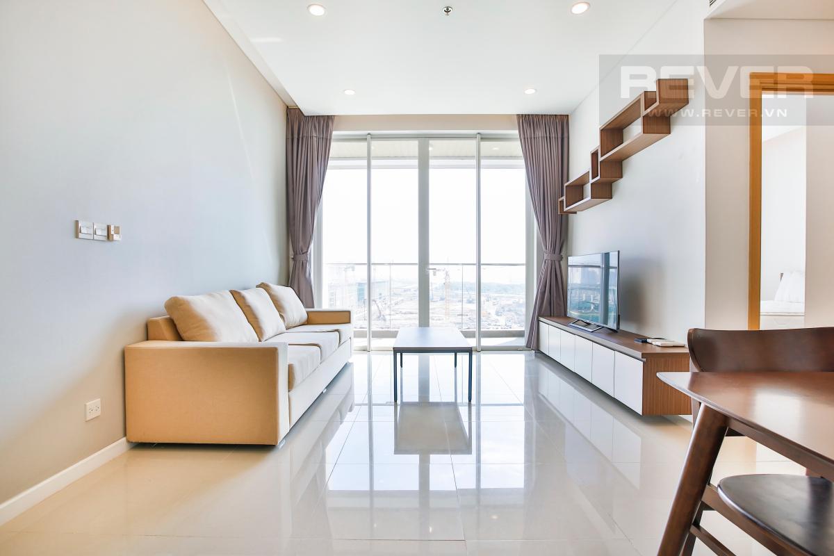 Phòng khách Căn hộ Sarimi Sala Đại Quang Minh tầng trung tháp B1 hướng Đông