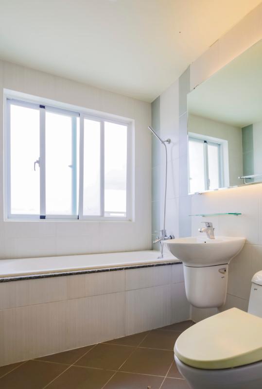 Phòng tắm Căn góc tầng cao tháp B Riverside Residence