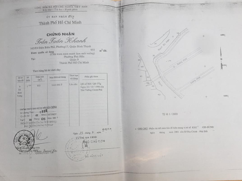 Bản vẽ vị trí đất Villa sân vườn hướng Tây Đại học Bách Khoa