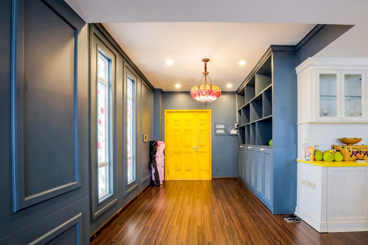 Hàng lang đến phòng ngủ Căn góc hướng Tây Nam tháp D Riverside Residence