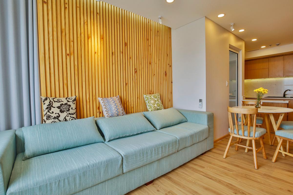 Sofa Phòng khách Căn hộ Sunrise City X2 độc đáo với nội thất thông minh