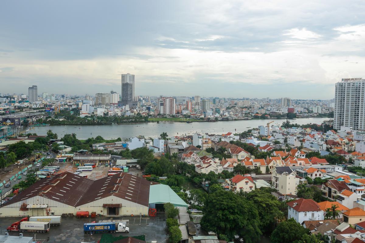 View nhìn từ căn hộ Căn hộ tầng cao tháp B Thảo Điền Pearl