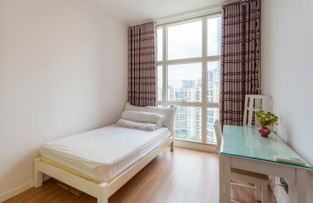 Phòng ngủ có view ngoại cảnh Cho thuê căn hộ tầng cao 3A The Estella An Phú