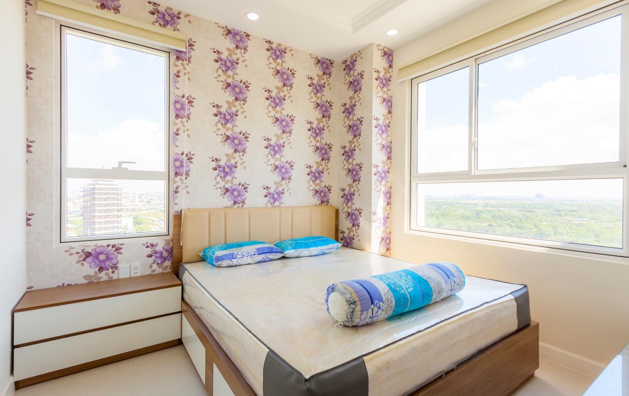 Phòng ngủ tầm nhìn hai hướng Căn góc tầng cao tháp LD Lexington An Phú