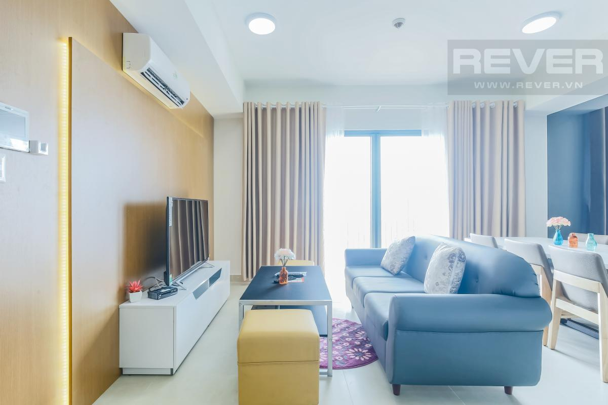 Phòng khách sang trọng Căn góc tầng cao T1A Masteri Thảo Điền