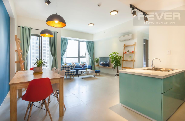 Kiến trúc mở giúp cho không gian sinh hoạt chung của căn hộ trở nên thoáng đãng Căn góc hướng Đông Nam tầng cao T3B Masteri Thảo Điền