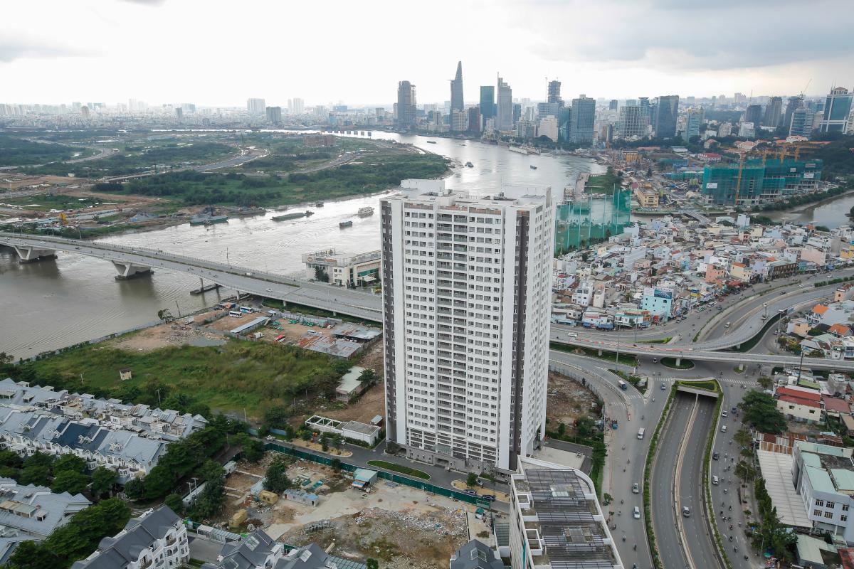 Penthouse hướng Nam Sapphire 1 Sài Gòn Pearl