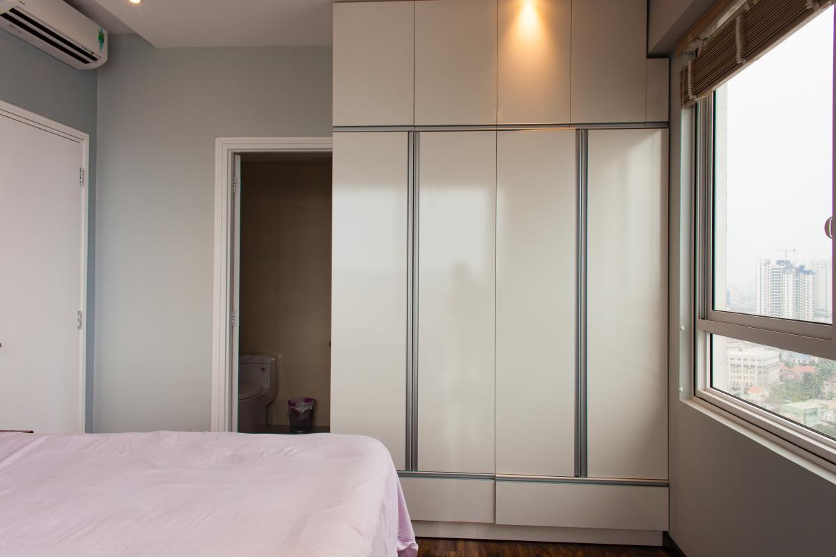 Phòng ngủ chính view nội khu Căn hộ tầng cao tháp TC1 Tropic Garden