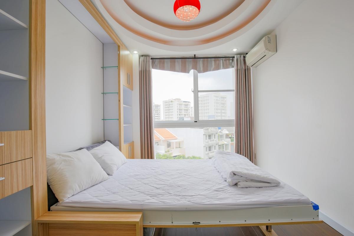 Phòng ngủ phụ Căn góc hướng Nam tầng cao CB Riverpark Residence