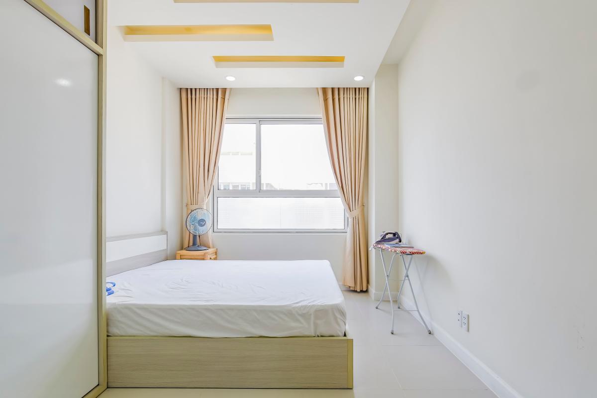 Phòng ngủ được bố trí ở khoảng view của căn hộ Căn hộ tầng cao LB Lexington Residence