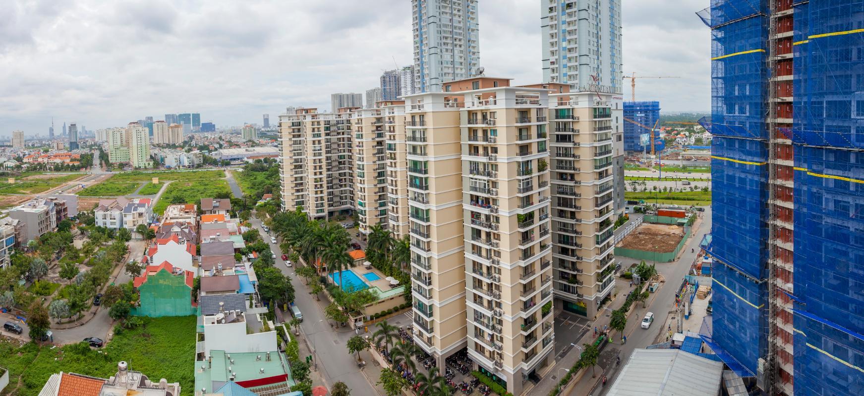View ngoại cảnh từ căn hộ Căn hộ tầng cao 3A The Estella An Phú