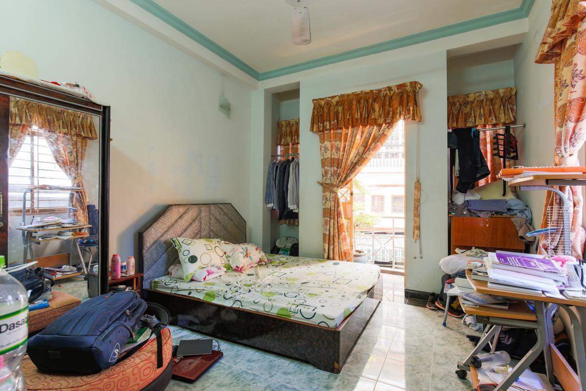 Phòng ngủ 2 Nhà 4 tầng hai mặt tiền hẻm Hậu Giang Quận 6
