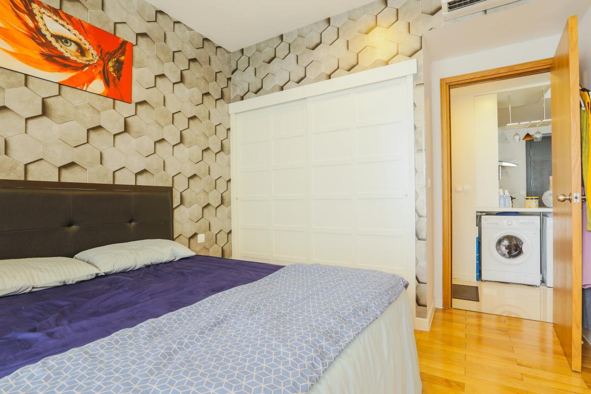 Phòng ngủ Căn hộ tầng cao Sunrise City độc đáo với những họa tiết 3D