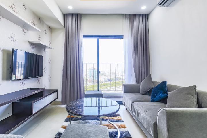 Căn hộ tầng cao 2 phòng ngủ hướng Tây Nam T1A Masteri Thảo Điền