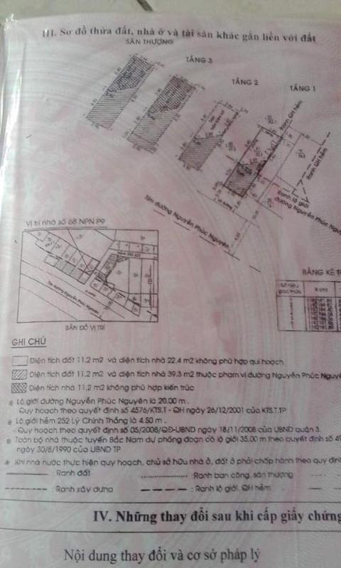 Bản vẽ nhà Nhà 4 tầng mặt tiền Nguyễn Phúc Nguyên quận 3