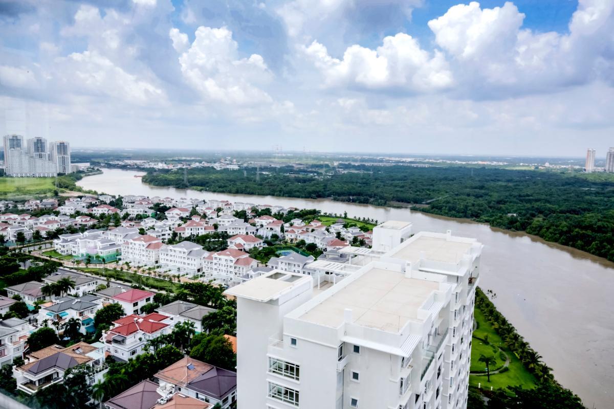 View toàn cảnh Căn góc tầng cao tháp B Riverside Residence