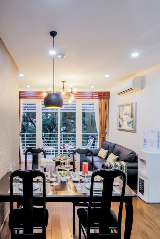 View nội khu Căn hộ 2 phòng ngủ Võ Văn Tần