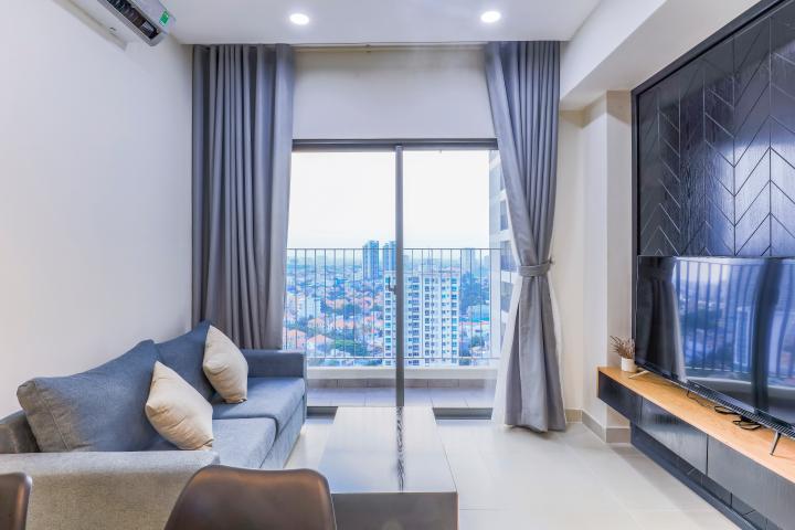 Căn hộ Masteri Thảo Điền tầng cao 2 phòng ngủ hướng Tây Bắc