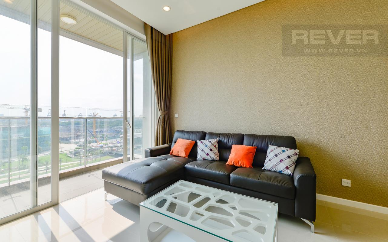 Sofa góc bọc da cao cấp Căn hộ Sarimi tầng thấp A2, hướng Đông Bắc nhìn ra công viên