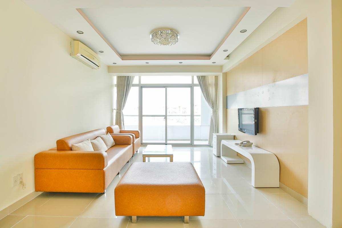 Phòng khách view thoáng mát Căn hộ trung tầng 3A Garden Court 1
