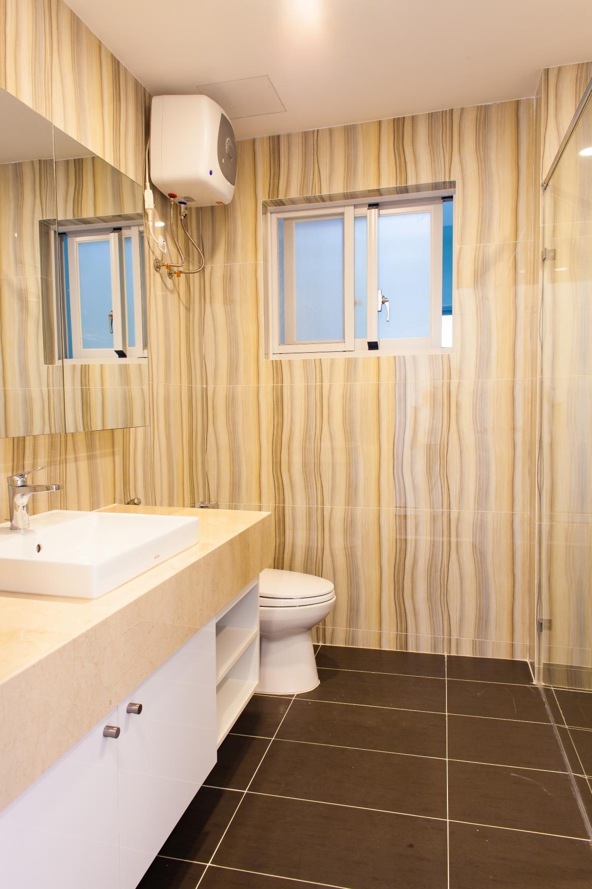 Phòng tắm chung Căn hộ tầng cao tháp L Happy Valley