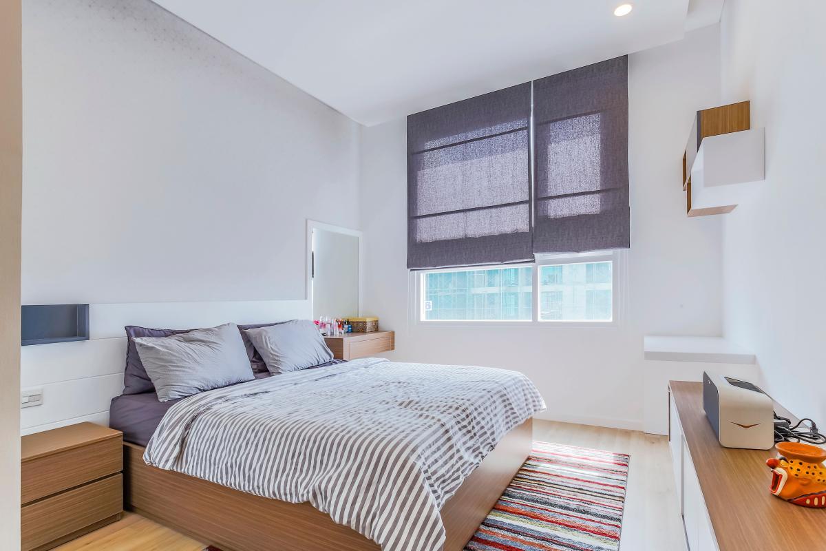 Không gian phòng ngủ 2 Bán căn hộ Sarimi Sala Đại Quang Minh 87m2, 2PN 2WC, nội thất tiện nghi