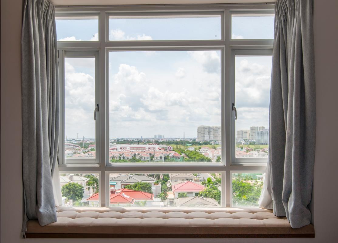 View toàn cảnh từ căn hộ Căn hộ Riverside Residence tầng thấp tháp AL hướng Đông