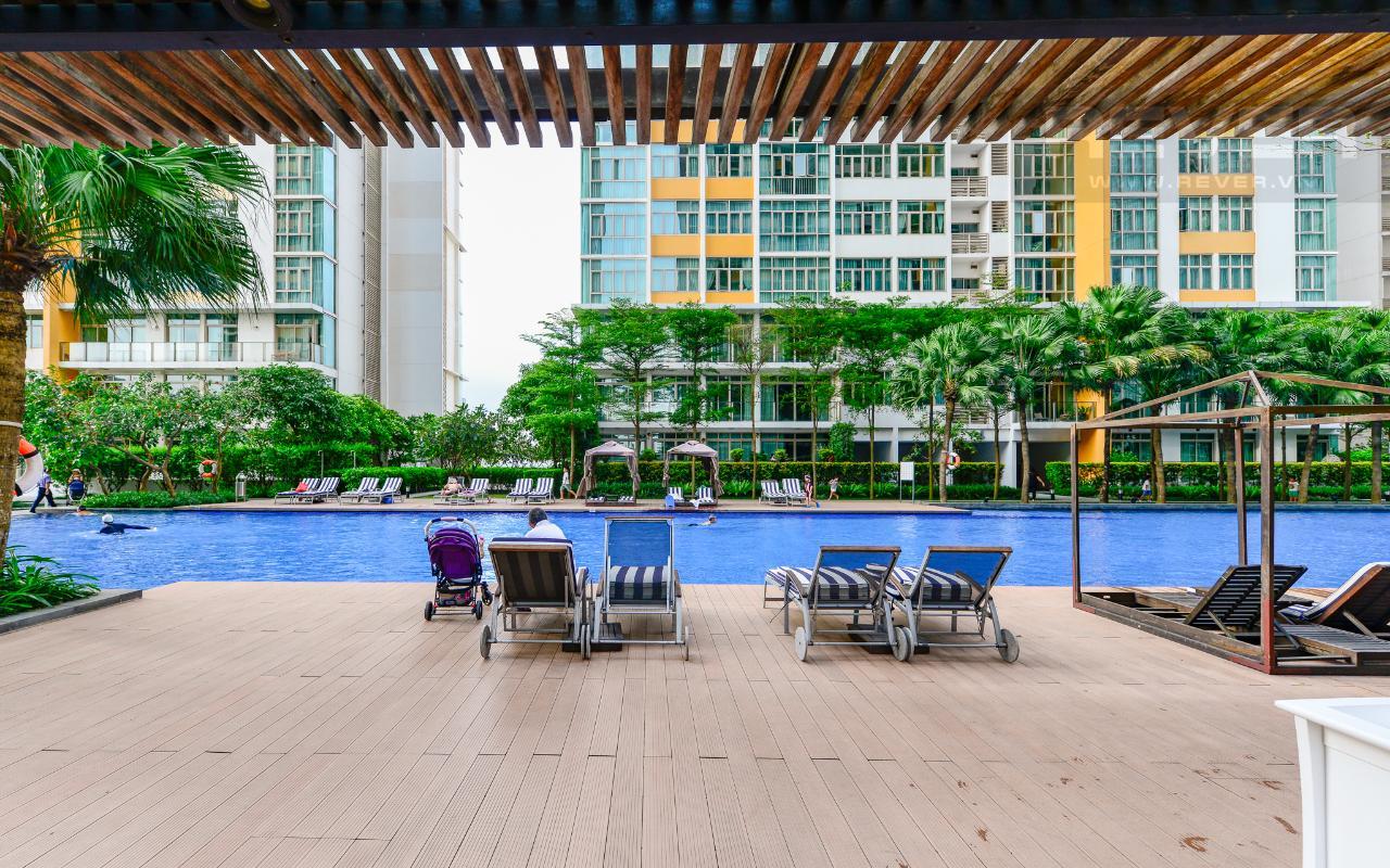 Hồ Bơi Căn hộ trung tầng 3 phòng ngủ The Vista An Phú