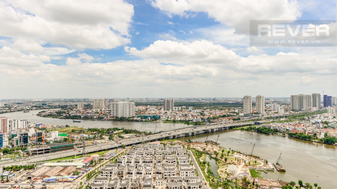 Cảnh quan nhìn từ căn hộ Căn hộ The Park tầng cao tháp P5, nhìn về sông Sài Gòn