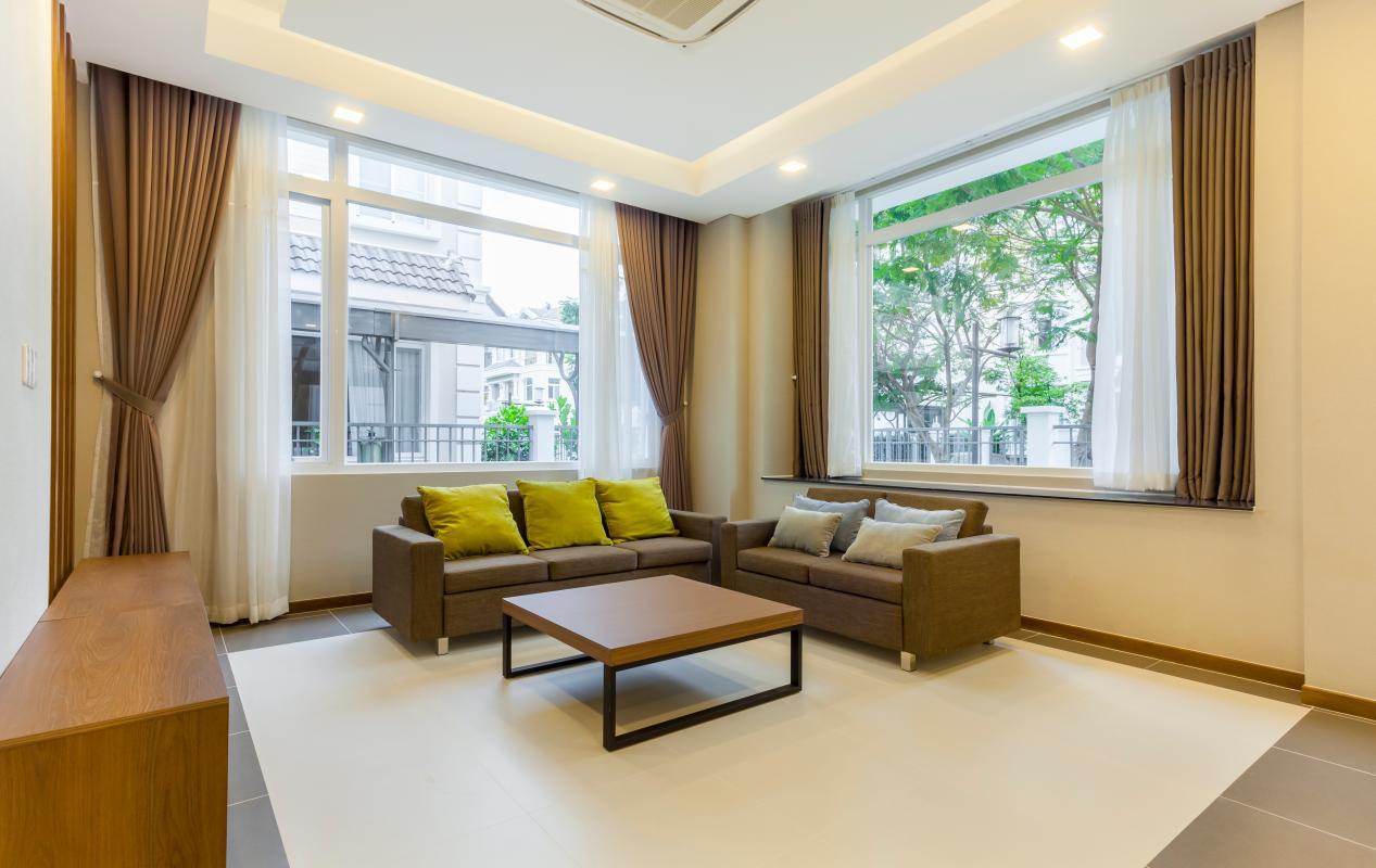 Phòng khách Villa 3 tầng Phú Mỹ 3A Tân Trào
