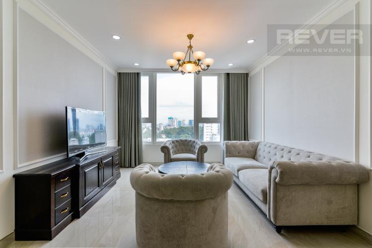 Phòng Khách Cho thuê căn hộ tầng cao Léman Luxury Apartments, 2PN, đầy đủ nội thất