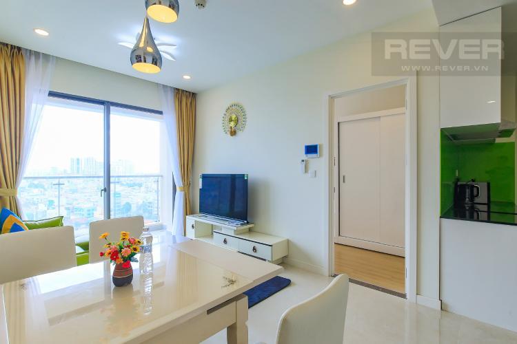 Bàn Ăn Cho thuê căn hộ Masteri Millennium tầng trung, đầy đủ nội thất, 2PN