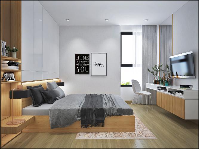 Phòng ngủ căn hộ Bcons Garden Căn hộ Bcons Garden nội thất cơ bản, view tầng cao thoáng mát.
