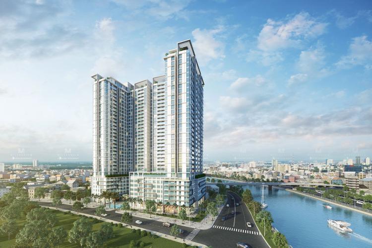 Building dự án Officetel Masteri Millennium tầng thấp, đầy đủ nội thất văn phòng.