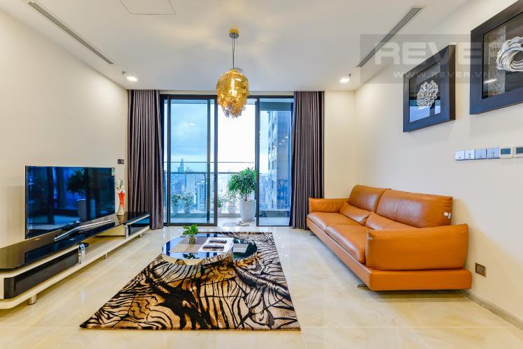 Phòng khách căn hộ Vinhomes Golden River Cho thuê căn hộ Vinhomes Golden River 2PN, tầng cao, diện tích 72m2, đầy đủ nội thất, view sông Sài Gòn