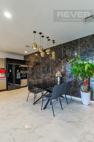 Bàn Ăn Cho thuê căn hộ Sarica Sala Đại Quang Minh 3PN, đầy đủ nội thất, view công viên mát mẻ