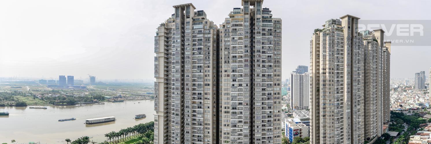 View Căn hộ Vinhomes Central Park 4 phòng ngủ tầng cao C2 view sông