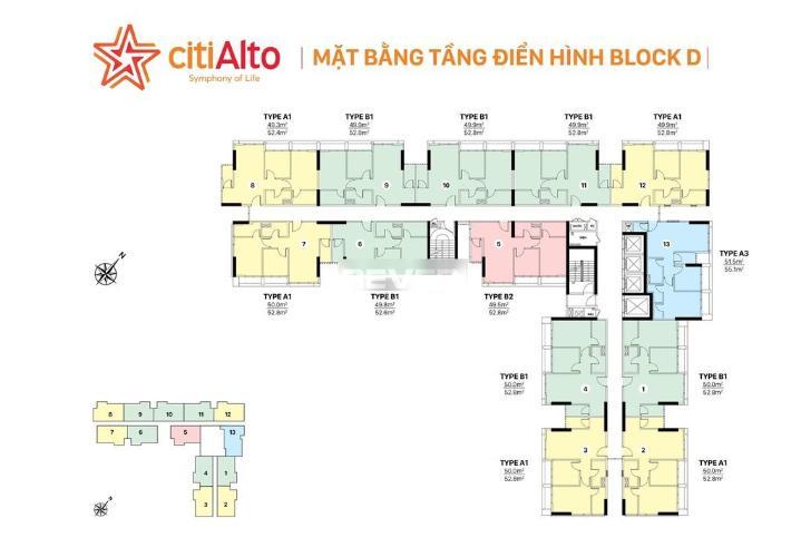 Tổng quan CitiAlto Quận 2 Căn hộ CitiAlto tầng thấp, nội thất cơ bản, 2 phòng ngủ.