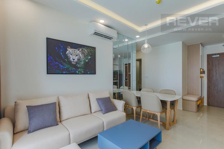 Phòng Khách Căn hộ Masteri Millennium tầng cao, view sông, 2PN