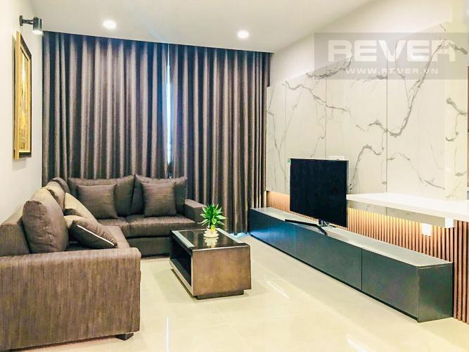 Phòng Khách Cho thuê căn hộ Sunrise CityView 3PN, tầng trung, diện tích 105m2, đầy đủ nội thất