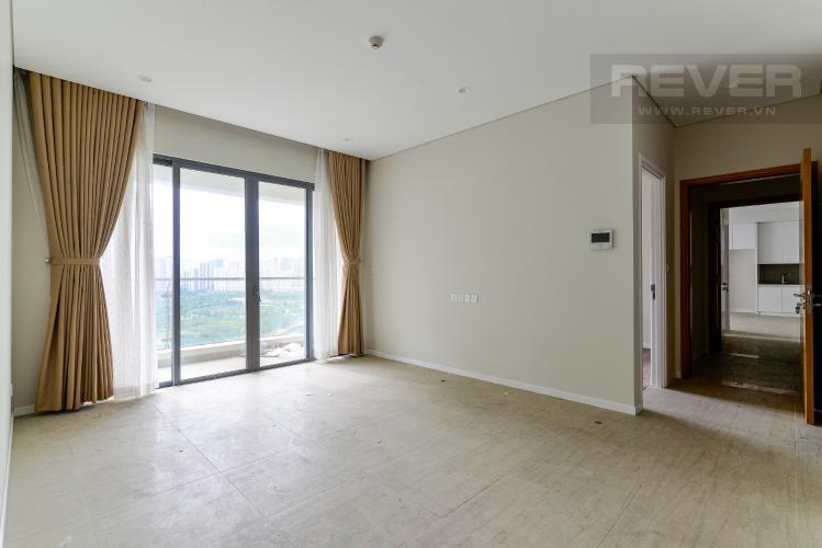 Phòng Khách 1 Cho thuê căn hộ dual key Diamond Island - Đảo Kim Cương 3PN, tháp Bahamas, không có nội thất, view sông thoáng mát