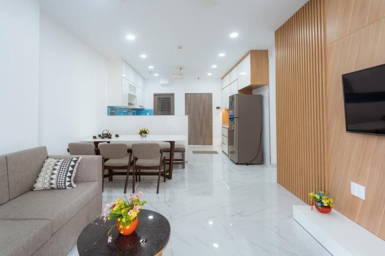 Cho thuê căn hộ 3PN, diện tích 104m2, đầy đủ nội thất, view nội khu toàn cảnh dự án Saigon South Residence.