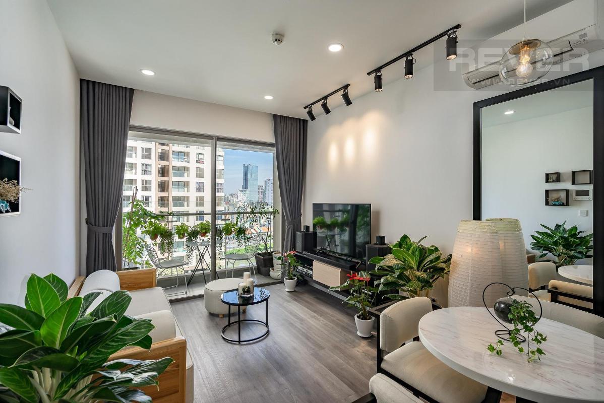 12ae469febd30d8d54c2 Bán căn hộ Masteri Millennium 2 phòng ngủ, block B, đầy đủ nội thất, view Bitexco