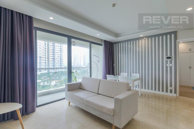 Phòng Khách Bán căn hộ Diamond Island - Đảo Kim Cương 2PN, tháp Maldives, đầy đủ nội thất, view nội khu